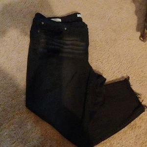 Torrid black skinny distressed jeans